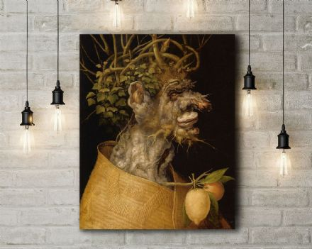 Arcimboldo: Winter. Fine Art Canvas.